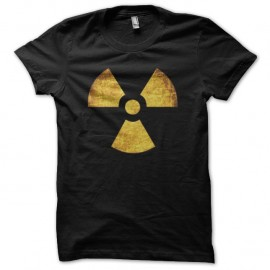 Shirt nucléaire symbole grungy noir pour homme et femme