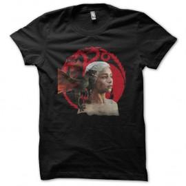 Shirt Le Trône de fer Shirt daenerys Targaryen Game of thrones noir pour homme et femme