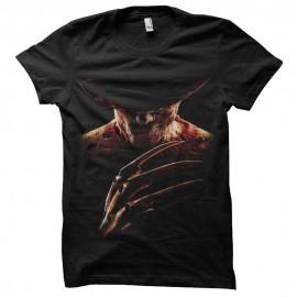 Shirt Freddy Krueger silhouette noir pour homme et femme