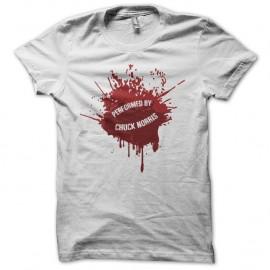 Shirt Chuck Norris éclats de sang blanc pour homme et femme