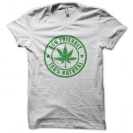 Shirt Cannabis Eco Friendly blanc pour homme et femme