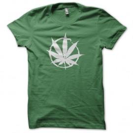 Shirt tampon cannabis vert pour homme et femme