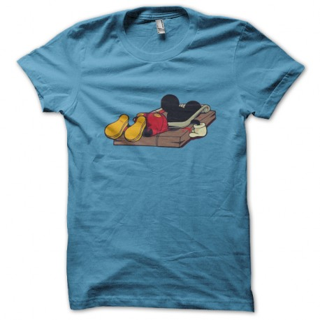 t shirt mickey mouse trap t shirt mickey tapette bleu. Black Bedroom Furniture Sets. Home Design Ideas