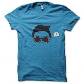 Shirt PSY Gentle Man Gangnam Style Bleu pour homme et femme