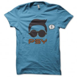 Shirt gangnam style psy gentleman gentle man bleu/noir pour homme et femme