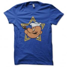 Shirt Popeye Star bleu pour homme et femme