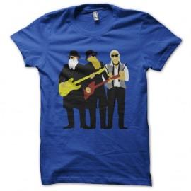 Shirt ZZ Top artwork bleu pour homme et femme
