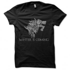 Shirt l'hivers approche de la série game of throne en noir pour homme et femme