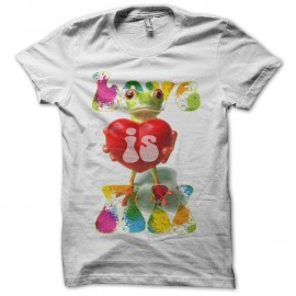Shirt Love Is All Roger Glover and the butterfly ball frog pochette blanc pour homme et femme