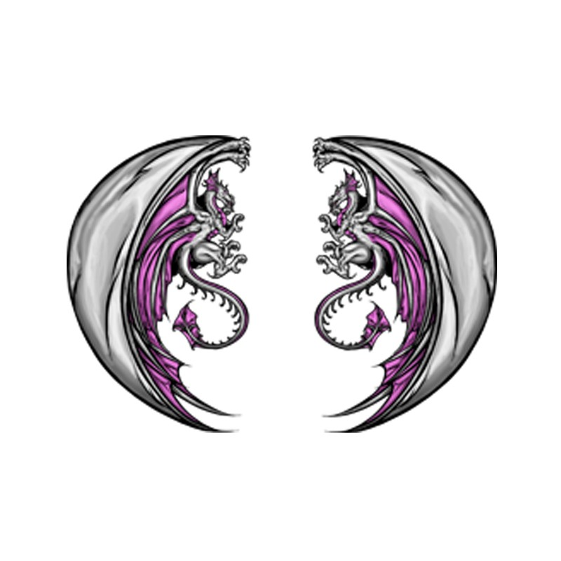 t shirt tatouage dragons jumeaux en blanc. Black Bedroom Furniture Sets. Home Design Ideas