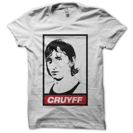 Shirt Johan Cruyff parodie Obey blanc pour homme et femme