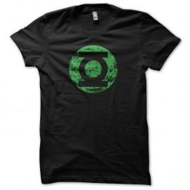 Shirt Green Lantern La Lanterne verte vintage grungy vert sur noir pour homme et femme