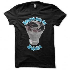 Shirt Moloko Korova Milk Bar parodie Orange Mécanique noir pour homme et femme