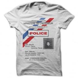 Shirt La cité de la peur Commissaire Bialès carte de police blanc pour homme et femme