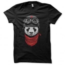 Shirt Panda biker noir pour homme et femme