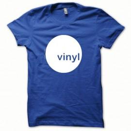 Shirt Vinyl blanc/bleu royal pour homme et femme