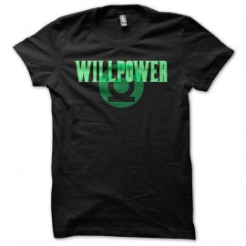 Shirt Green Lantern Willpower justice league basis noir pour homme et femme