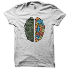 Shirt cerveau blanc pour homme et femme
