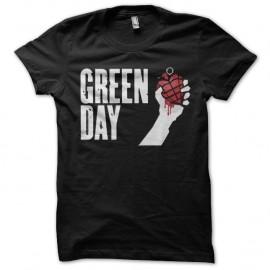 Shirt Green Day grenade affiche noir pour homme et femme