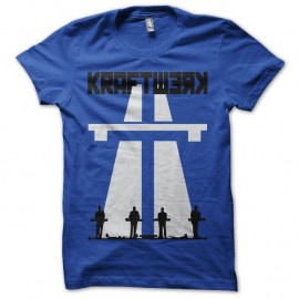 Shirt Kraftwerk Autobahn artwork bleu pour homme et femme