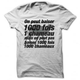 Shirt La cité de la peur parodie baiser chameau 1000 fois blanc pour homme et femme