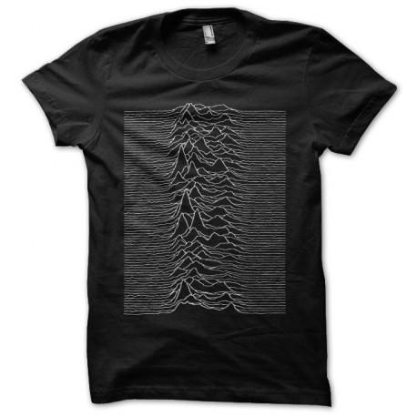 Shirt Joy Division Unknown Pleasures noir pour homme et femme