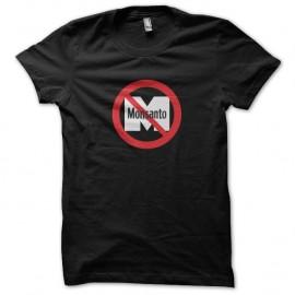 Shirt No Monsanto - Non a monsanto Ogm Noir pour homme et femme