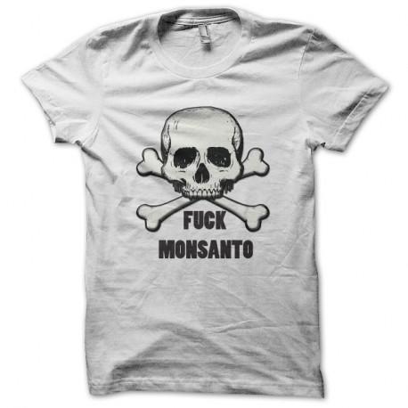 Shirt Fuck Monsanto - Non a monsanto Ogm Blanc pour homme et femme