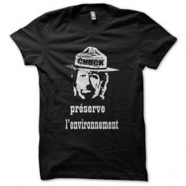 Shirt Chuck Norris préserve l'environnement noir pour homme et femme
