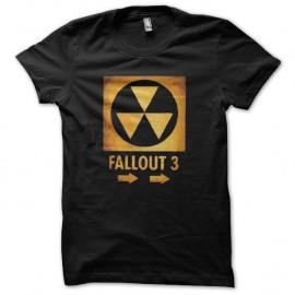 Shirt Fallout 3 nuclear artwork noir pour homme et femme