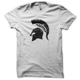 Shirt Spartacus casque spartiate vintage artwork blanc pour homme et femme
