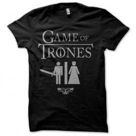 Parodie humoristique Game of trones sur Shirt noir pour homme et femme