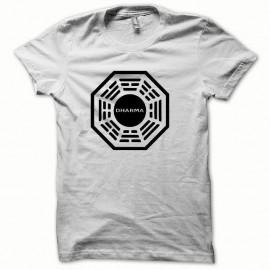 Shirt Dharma classique les disparus noir/blanc pour homme et femme
