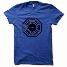 Shirt Dharma logo noir/bleu royal pour homme et femme