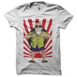 Shirt Tortue Géniale sur soleil nippon blanc pour homme et femme