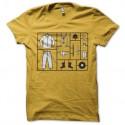 Shirt orange mécanique kit stanley kubrick jaune pour homme et femme