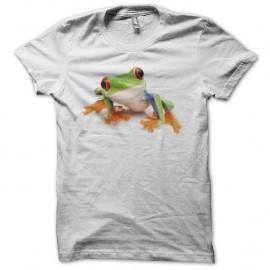 Shirt Grenouille arboricole colorée blanc pour homme et femme