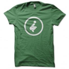 Shirt Caca en plein air pictogramme toilettes sèches vert pour homme et femme