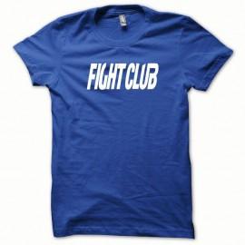 Shirt Fight Club blanc/bleu royal pour homme et femme