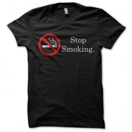 Shirt arrêter de fumer noir pour homme et femme