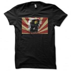 Shirt Bob Marley sur rayons japonais noir pour homme et femme