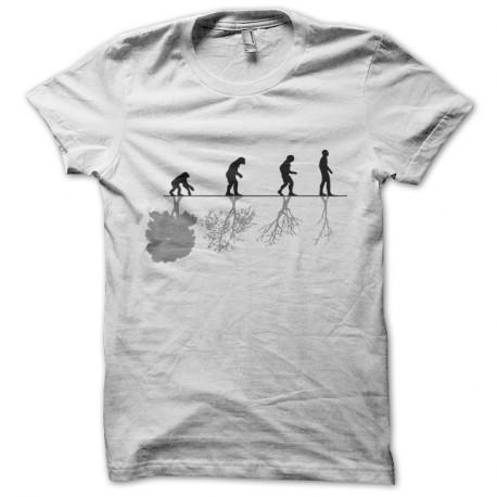 Shirt écologie évolution homme planète blanc pour homme et femme