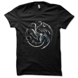 Shirt Maison Targaryen dragons de khaleesi Trone de fer noir pour homme et femme