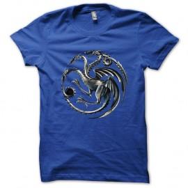 Shirt Maison Targaryen dragons de khaleesi Trone de fer bleu pour homme et femme
