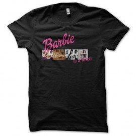 Shirt barbie is a bitch version diapositives noir pour homme et femme