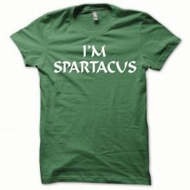 Shirt Spartacus blanc/vert bouteille pour homme et femme