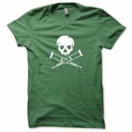 Shirt Jackass pekpek blanc/vert bouteille pour homme et femme