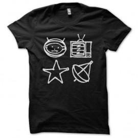 Shirt U2 Zoo TV symboles noir pour homme et femme