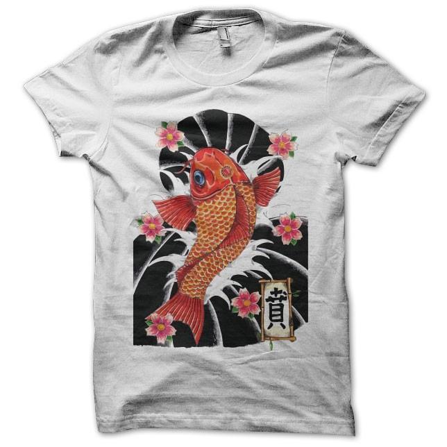 Kyokushin Camiseta Tattoo japonesa Kyokushin Tattoo japonesa Camiseta blanca ZXkTOPui