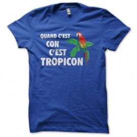 Shirt Les Nuls Tropico parodie Tropicon bleu pour homme et femme
